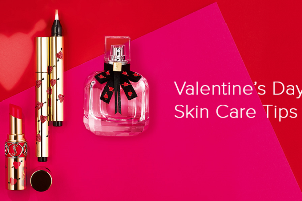 valentine's day skin care banner