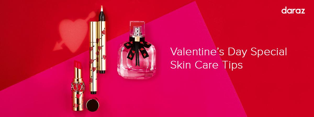 valentine's day skin care banner