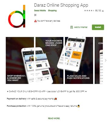 daraz bd mobile app