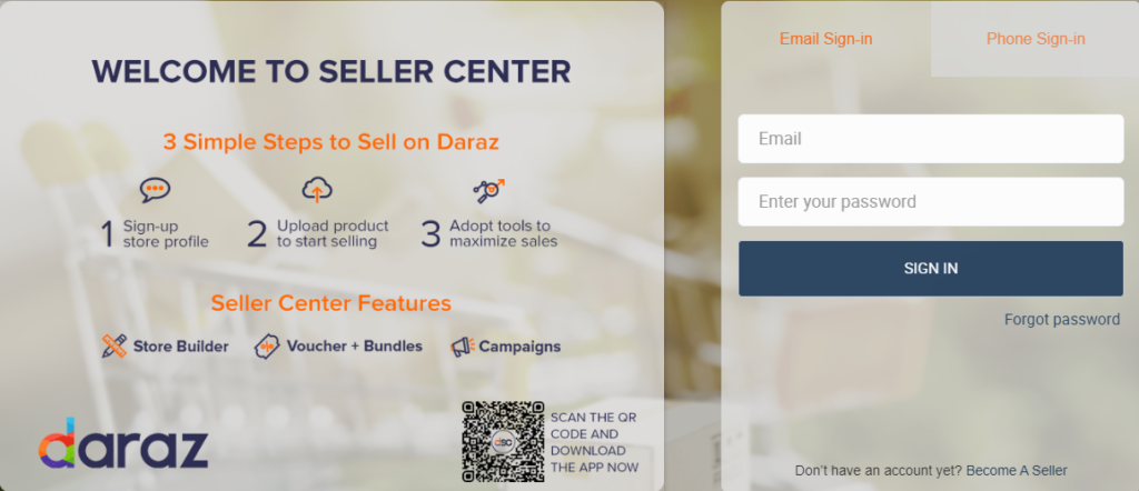 Daraz_seller_center-login