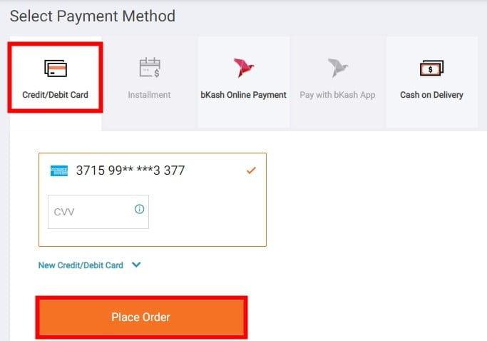 avail prepayment discounts from daraz.com.bd