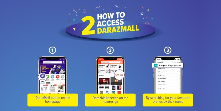 how to access daraz mall
