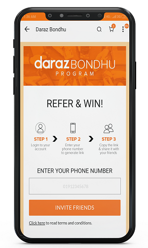 referral bondhu program of daraz app