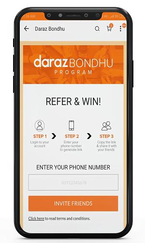 referral bondhu program of daraz app