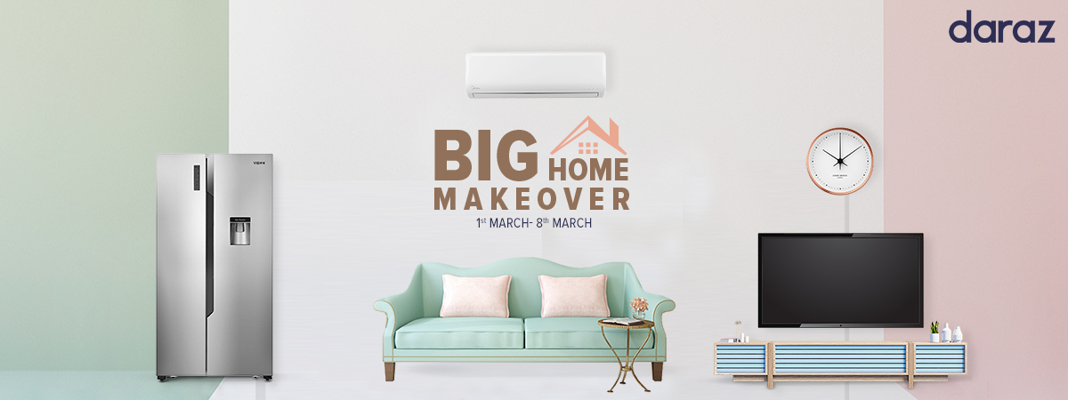 enjoy extra discounts from daraz big home makeover campaign