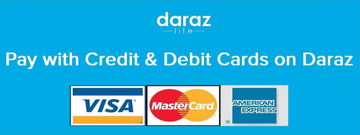 pay with debit and credit cards on daraz.com.bd