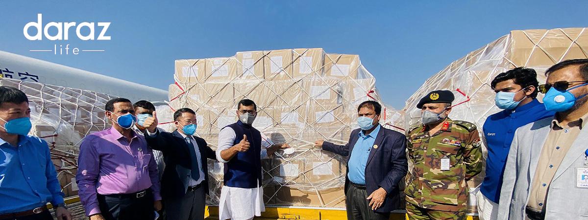 corona test kits, masks and PPE donation to Bangladesh from Jack Ma and Alibaba foundation