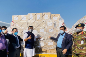 corona test kits, masks and PPE donation to Bangladesh from Jack Ma and Alibaba foundation