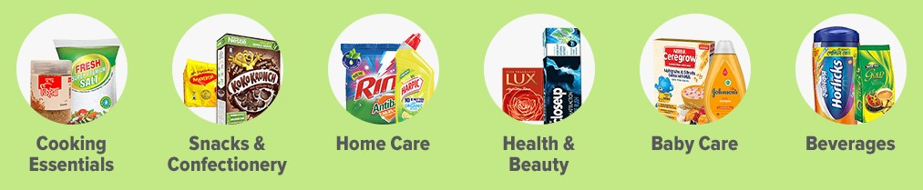 order groceries from different categories of dMart