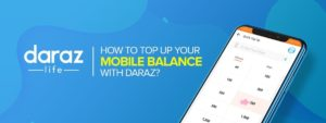 top up your mobile balance from daraz.com.bd