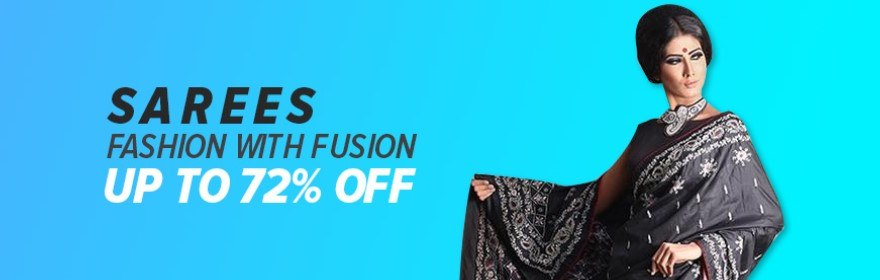 order women's saree from daraz eid big sale campaign
