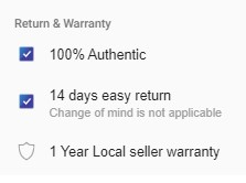 return and warranty part of daraz.com.bd