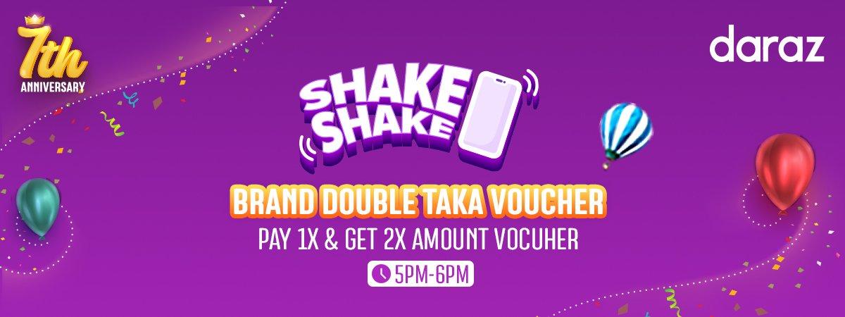 brand double taka voucher of daraz 7th anniversary sale