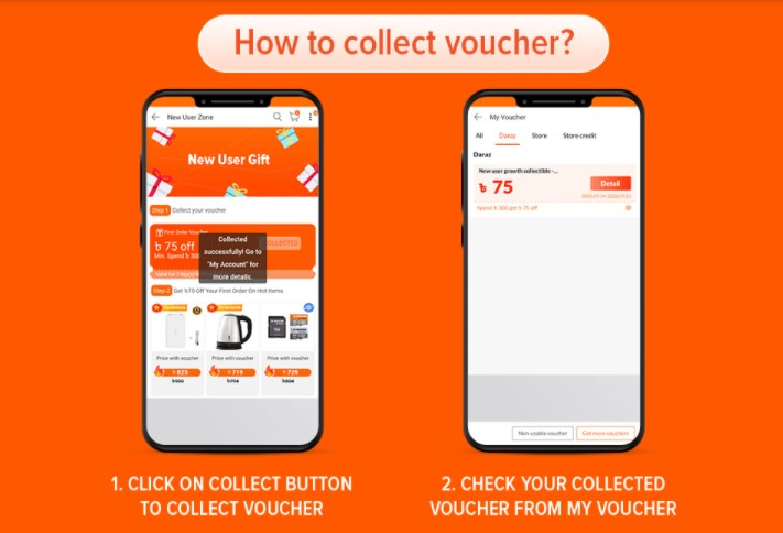 collect first order voucher