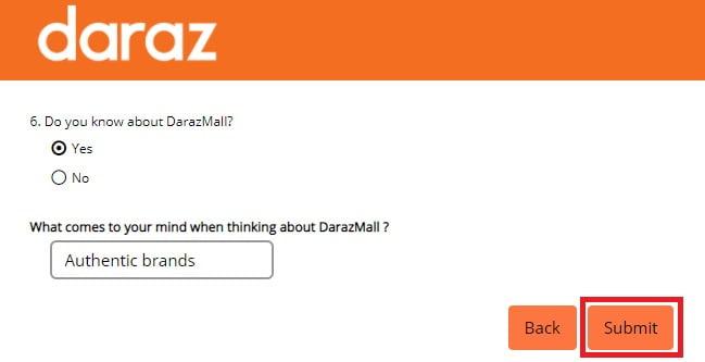 NPS Daraz quiz 6
