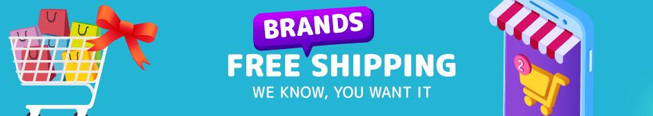 Brand free shipping