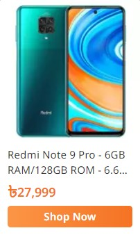 order redmi note 9 pro smartphone from daraz.com.bd