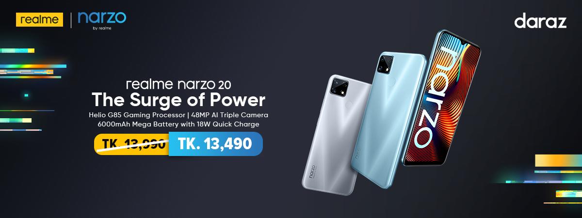 order realme narzo 20 mobile from daraz.com.bd
