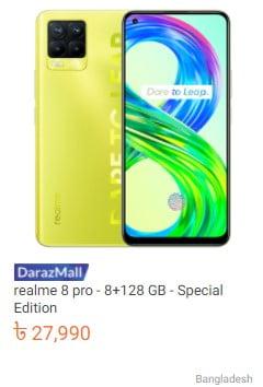 order realme 8 pro from daraz.com.bd