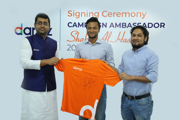 Shakib signs with Daraz BD as Campaign Ambassador