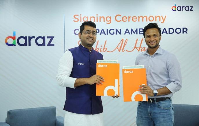 Shakib signs with Daraz Bangladesh as the Campaign Ambassador