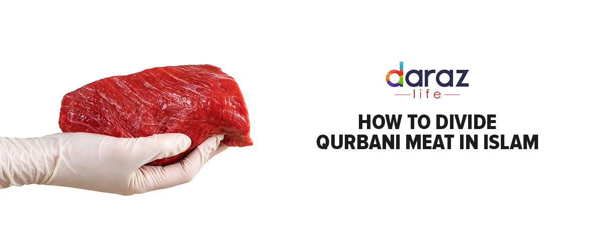 dividing qurbani cow meat