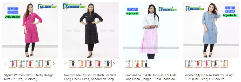 buy kurti dress from daraz.com.bd
