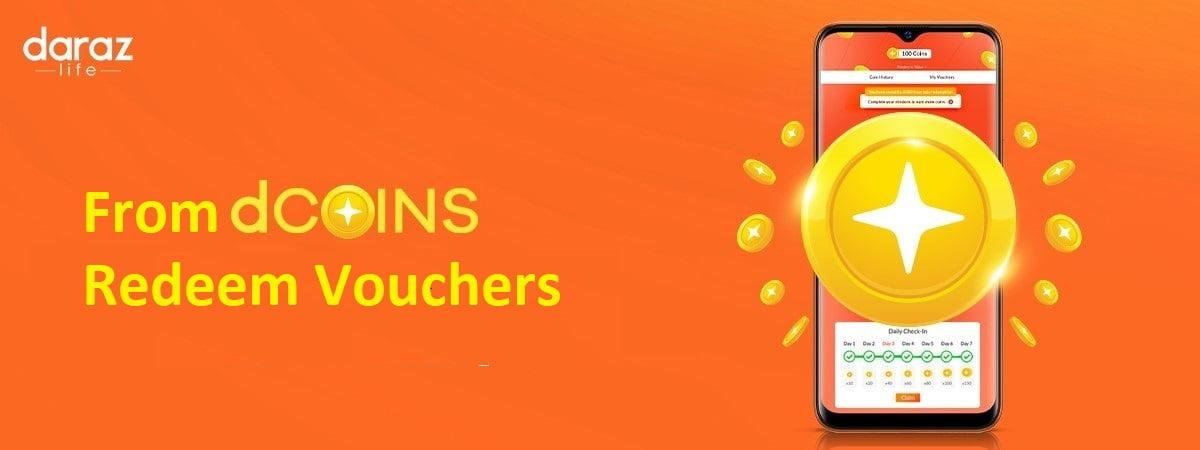 from dcoins, redeem vouchers